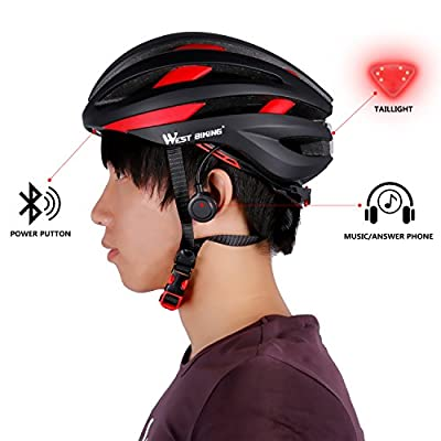 West Biking Bike Helmet for Adult Women Men, Bluetooth Bicycle Safety Helmet with Taillight from West Biking