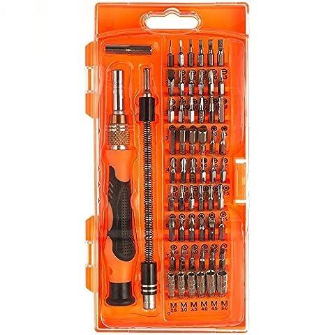 Magnetischer Schraubendreher, iamer 58-in-1mit 54Bit Driver Kit, magnetisch, Elektronische Repair Tool-Kit für (Elettronica)