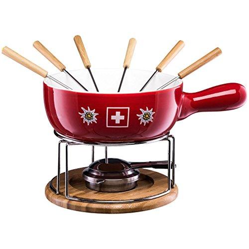 Style'n Cook Set Fonduta Formaggio in porcellana EDELSWISS Swiss Fondue