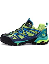 Mujer Ante de las señoras llanuras Multisport Trail zapatillas de deporte de invierno West transpirable botas de esquí de fondo impermeable al aire libre de los zapatos de senderismo