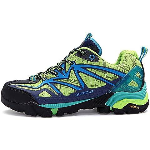 Mujer Ante de las señoras llanuras Multisport Trail zapatillas de deporte de invierno West transpirable botas de esquí de fondo impermeable al aire libre de los zapatos de