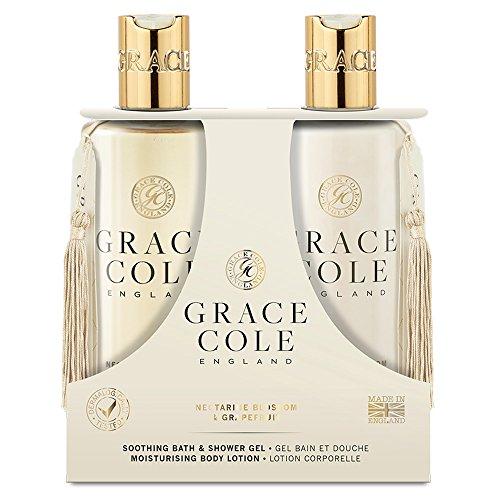 Gel douche et bain 300 ml, lotion pour le corps par Grace Cole - Nectarine Blossom & Pamplemousse