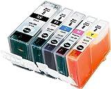 Metro Market 5 PK für PGI-5 CLI-8 Tintenpatronen für Canon Pixma iP4200 iP4200x iP4300 iP4500 iP4500x iP5100 iP5200 iP5200R iP5300 iP7600 MP500 MP530 MP600 MP600R MP610 MP800 MP800R MP810 MP830 MX8