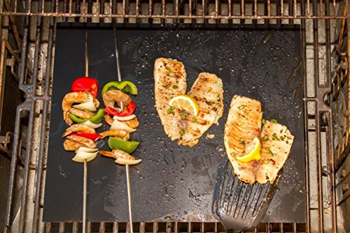 LyDecor 3PCS BBQ Grill Mat Durable, Non-Stick, Heat Resistant, Dishwasher Safe Barbecue Utensil for Gas Charcoal Micro…