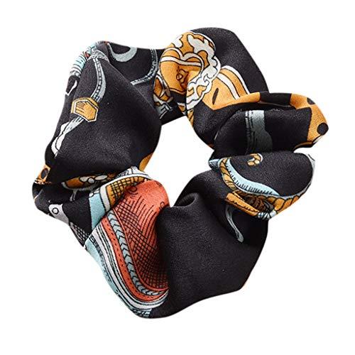 DOFENG Damen Breit Haar-Stirnband mit Bördeln Haar Kopfband Mode Pferdeschwanz-Halter Haarband Einfache SüßE MäDchen Einfach Bedruckt Elegant Sport (A-Navy, One size) (Panda Hero Kostüm)