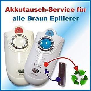 Premium Akkuwechsel Akkutausch für alle Braun Epilierer Silk-épil, Xpressiv (Epelierer) *Akkutauschen.de ist ausgezeichnet mit dem Qualitätssiegel Werkstatt N des Rates für Nachhaltige Entwicklung*