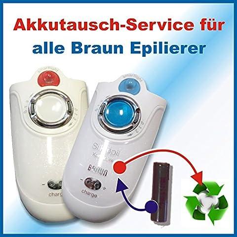 Profi-Akkuwechsel Akkutausch für alle Braun Epilierer Silk-épil, Xpressiv (Epelierer) ACHTUNG!!!