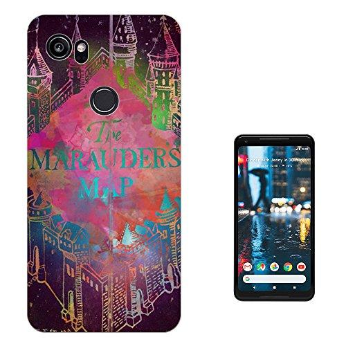 "Preisvergleich Produktbild 003135 - Colourful marauders map Design Google Pixel 2 XL 6.0"" Fashion Trend Silikon Hülle Schutzhülle Schutzcase Gel Silicone Hülle"