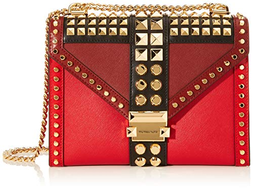 Michael Kors Damen Whitney Business Tasche, Rot (Red), 8x17x25 cm
