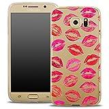 OOH!COLOR® Design Case für Samsung Galaxy S5 Mini Küsse OVA041 Schutzhülle Elegant Transparent Silikon Etui Cover mit Liebe Motiv für Valentinstag