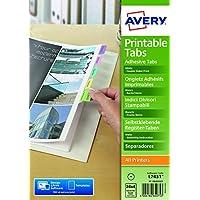 Avery 05412501 Indici Divisori Avery, Confezione 96