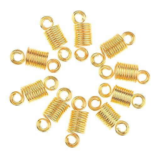 MagiDeal 10x Perle à Cheveux Dreadlocks Tressage à Extension de Cheveux - Perle de Bricolage DIY de Bijoux/ Collier / Bague / Bracelet - Outil Artisanat - 3.3x1cm