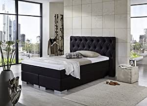 boxspringbett knopf 140x200 cm in kunstleder dunkelbraun 3262 von breckle k che. Black Bedroom Furniture Sets. Home Design Ideas