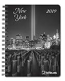 New York - Buchkalender Delux 2019 - Kalenderbuch A5-14 Monate - Taschenkalender - teNeues-Verlag - Taschenplaner mit Spiralbindung und 12 Abbildungen - 16,5 cm x 21,6 cm - Fotokalender