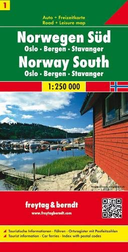Berndt  Freytag Autokarten, Blatt 1: Norwegen Süd - Oslo - Bergen - Stavanger - Maßstab 1:250 000 (Norwegen Karten)
