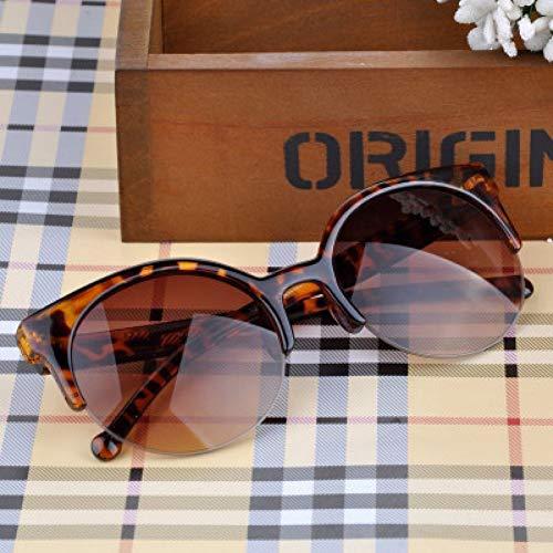 GJYANJING Sonnenbrille Neue Männer High-End-Katzenaugen-Brille Frauen Reisen Mode Sonnenbrillen Sport Casual Halbrahmen Sonnenbrille Uv400