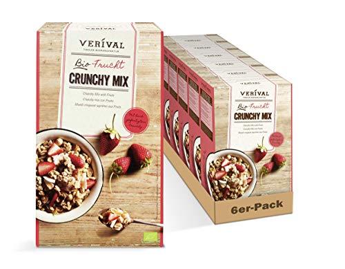 Verival Frucht Crunchy Mix   6 x 300g   bio   ohne Palmöl   hangefertigt in Tirol