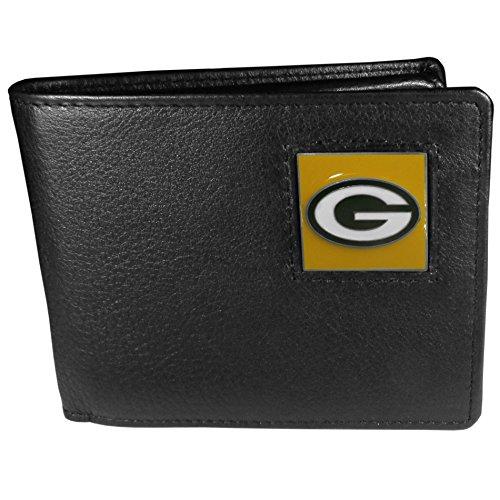 Bay Leder Tasche (Siskiyou NFL Green Bay Packers Geldbörse aus Leder)