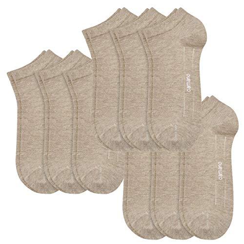 Camano Socken CA-SOFT Sneaker 9er Pack, Größe:35-38, Farbe:Sand Melange (018) (Sand-socken Billig)
