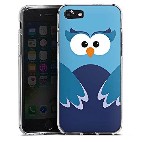 Apple iPhone X Silikon Hülle Case Schutzhülle Eule Owl Blau Silikon Case transparent
