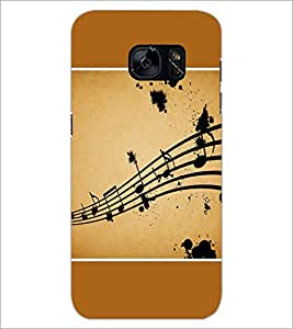 PrintDhaba Music Notes D-1428 Back Case Cover for SAMSUNG GALAXY S7 (Multi-Coloured)