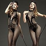 HOOM-Sexy Dessous Spitze ouvert Body sleeveless - Netz Strümpfe, EIN