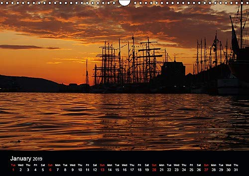 Tall ships at Bergen (Wall Calendar 2019 DIN A3 Landscape): Tall ships race event in Bergen, Norway (Monthly calendar, 14 pages )