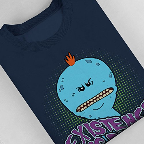 Rick And Morty Mr Meeseeks Existence Is Pain Women's Sweatshirt Navy blue