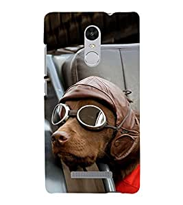 Vizagbeats Dog with goggles Back Case Cover for XIAOMI REDMi NOTE 3