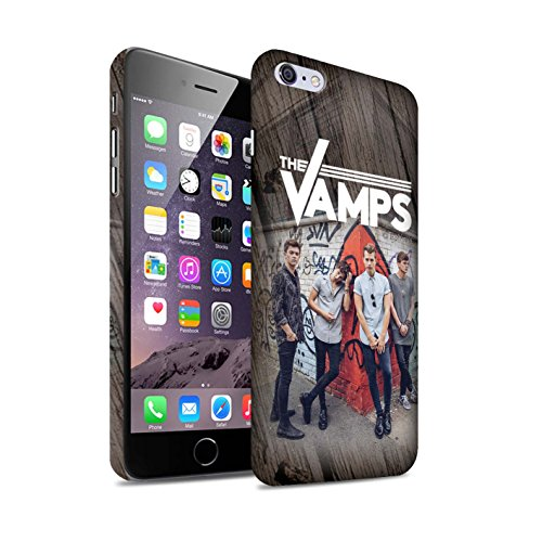 Offiziell The Vamps Hülle / Matte Snap-On Case für Apple iPhone 6S+/Plus / Pack 6pcs Muster / The Vamps Fotoshoot Kollektion Holz-Effekt