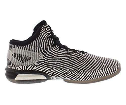 Boost Adidas Pazzo Luce Mens Basketball Shoe 6.5 Bianco-nero White/Metallic Silver/Black