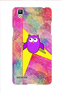 AMAN Pink Colour Owl 3D Back Cover for Oppo F1