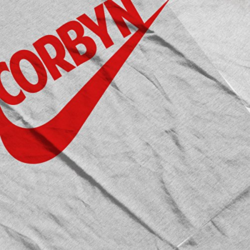 Jeremy Corbyn Nike Tick Logo Labour Women's Hooded Sweatshirt Heather Grey