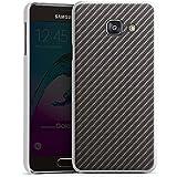 Samsung Galaxy A3 (2016) Housse Étui Protection Coque Look carbone Noir gris Métal