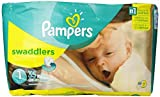 Pampers Swaddlers Diapers, Size 1, 35 Count by Pampers