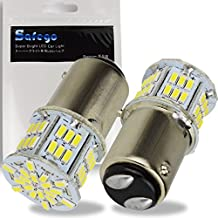 Safego 2x Bombillas LED 1157 P21/5W BAY15D 54 SMD 3014 Luz de Estacionamiento Luz