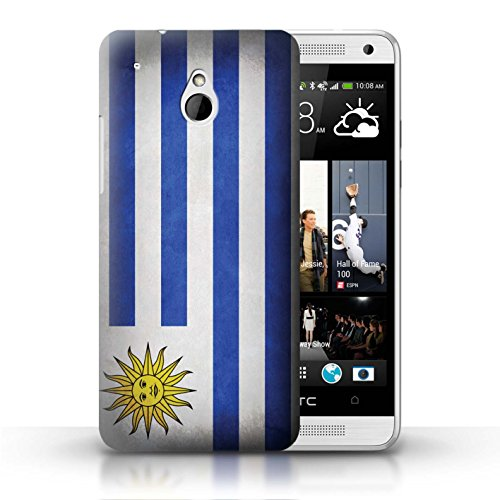 Kobalt® Imprimé Etui / Coque pour HTC One/1 Mini / Pays de Galles/gallois conception / Série Drapeau Uruguay/Uruguayen