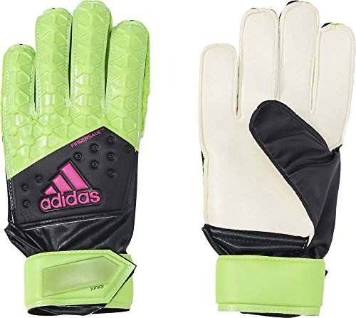 adidas Jungen Handschuhe ACE FS Junior, Solar Green/Core Black/Shock Pink S16/White, Gr.5
