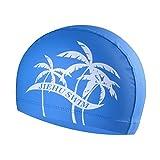 GEZICHTA Badekappe für Erwachsene, Hohe elastische Silikon Badekappe, Baden Gap, Lustiges Design, hält das Haar reinigen Ohr Dry, blau