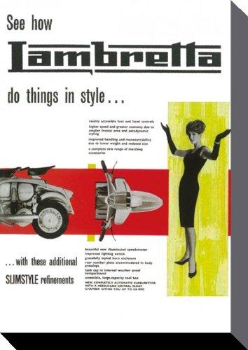 Lambretta Leinwand Do Things in Style 30x40 cm