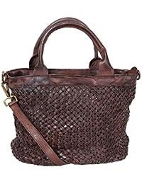 Ladies fourre-tout, sacs à bandoulière Used Look, M2124 cabas femme cuir vintage, Italy