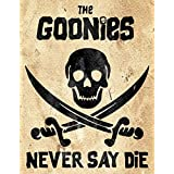 Vintage Advertising Wall Tin Plaque 20x15cm - Pub Shed Bar Man Cave Home Bedroom Office Kitchen Gift Metal Sign - Goonies Nev