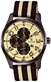 Titan Octane 9487QP01J Multi Function Chronograph Beige Dial Men's Watch