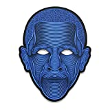 lulalula Sound Reactive LED-Maske leuchten Musikmaske Cosplay Glowing Maske für Halloween Christmas Festival Party Costume Mask (Obama)