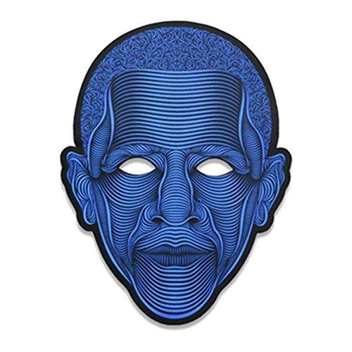ive LED-Maske leuchten Musikmaske Cosplay Glowing Maske für Halloween Christmas Festival Party Costume Mask (Obama) ()