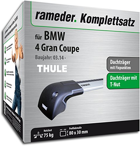 Rameder Komplettsatz, Dachträger WingBar Edge für BMW 4 Gran Coupe (119007-11900-7)