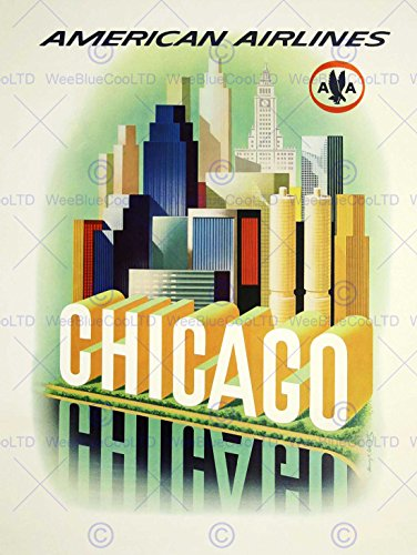 travel-american-airlines-chicago-windy-city-usa-vintage-advert-poster-art-2244py