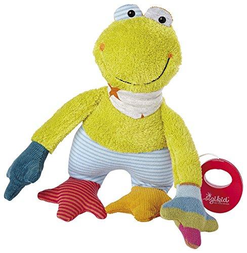 sigikid, Mädchen und Jungen, Spieluhr, Stofftier Frosch, Grün, 41249