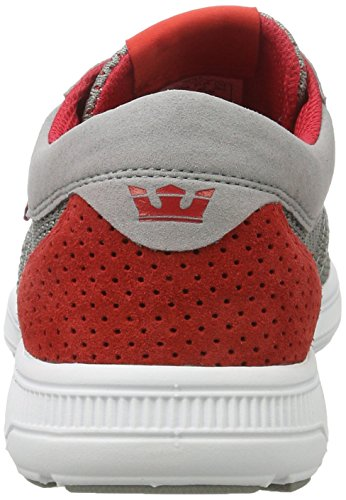 Supra Hammer Run, Baskets Homme, Bleu Marine-Blanc Grau (Grey-Red)