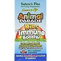 Nature's Plus - Animal Parade masticabili Booster immunitario bacca tropicale sapore - 90 compresse masticabili (Immunitario Salute Masticabili)